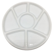 Easyou 7 Well Porcelain Palette 8.6 Inch(22cm) Mixing Tray