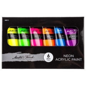 Neon Acrylic Paint Set From TheCraftyCrocodile