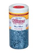 Pacon Spectra Glitter Sparkling Crystals, Sky Blue, 120ml Jar