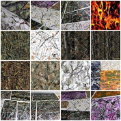 6+ Samples Pak 2m 20' Sq Ft True Timber Camo Flames Skulls Scrapes Hydrographic Film Dip Kit