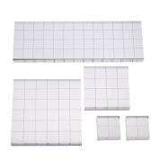 Shappy Stamp Block Acrylic Block with Grid Lines, Assorted Sizes, 5 Pieces