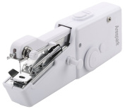 Arespark Portable Mini Handheld Sewing Machine, Quick Stitch Tool for Self, Designed Handkerchiefs, Aprons, Pillowcases - White