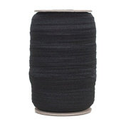 100 Yards - Black - 1.6cm Fold Over Elastic - ElasticByTheYard