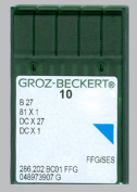10pics Groz-beckert B27 Serger Overlock Industrial Sewing Needle Size 10 Ball Point