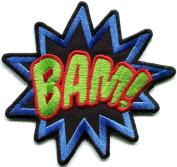 BAM! superhero comics retro fun embroidered applique iron-on patch new