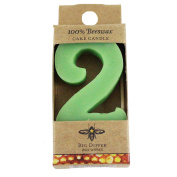 Beeswax Birthday Number Candle - 2