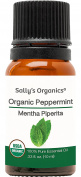 10ml Organic Peppermint Essential Oil - Pure Therapeutic Grade - Works Best for Aromatherapy, Natural Soap, Shampoo, Hair, Lotion, Bath Melts, Body, Mice Repellent, and Air Freshener