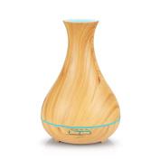 NEXGADGET 400ML Ultrasonic Wood Grain Aromatherapy Essential Oil Diffuser