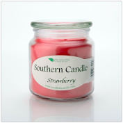 Strawberry 470ml Decorator Jar Natural Soy Wax Candle