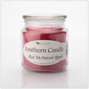 Red Macintosh Apple 470ml Decorator Jar Natural Soy Wax Candle