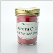 Red Macintosh Apple - 240ml Heritage Jar Natural Soy Wax Candle