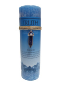Sodalite Crystal Energy Pillar Candle and Pendant Stone for Truth
