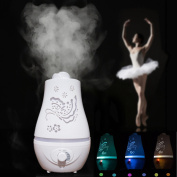 TS-106 2.4L Mist Humidifier Ultrasonic Aromatherapy Diffuser - Auto Shut-Off & Colour Changing Lamps