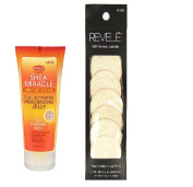 African Pride Shea Miracle Curl Activator Moisturising jelly 180ml with Loofah facial cleansing pads