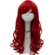 "Netgo Red Cosplay Wig 26"" 65cm Long Wavy Fashion Women's Heat Resistanmt Sythetic Halloween Costume Party Wigs"
