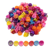 100-Pack Mini Flower Hair Clips; Tiny Plastic Claw Barrettes Bulk Value Pack, Multi-Coloured