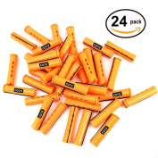 24 pc of COTU (R) Hair Perm Rods Jumbo Size - Tangerine Colour
