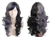 Women's Wig Long Wavy Halloween Costumes Cosplay Wig Ombre Purple Black