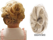 HI GIRL Synthetic Scrunchy Scrunchie Hairpiece Ponytail Extensions Donut Hair Bun Extesnsions #24T613