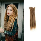 HAIQUAN Handmade Dreadlocks Extensions Reggae Hair 60cm Soft Faux Locs Crochet Havana Mambo Twist Braiding Hair 10 Strands Light Brown