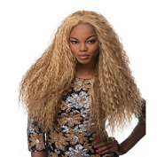 YAMEIJIA Hot Selling Synthetic Blonde Long Kinky Wave Wigs