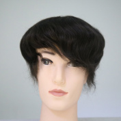 Lanting Human Hair Toupee 20cm x 25cm Mono Base with Hard PU Reforced Men Hair Piece #2 Hair Colour