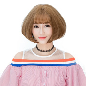 Max beauty Daily Lolita Wig Girls Short Bob Wigs Hair Costume Natural Synthetic Free Cap Wig