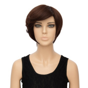 Alacos Fashion Straight Synthetic Heat Resistant Christmas Party Daily Costumes Wig +Free Wig Cap