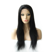 Remy Queen Full Lace Wigs 1# Jet Black Silky Straight Natural Hairline Grade 8a 20cm - 60cm