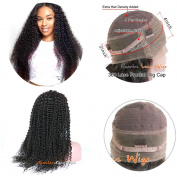 Sunriselacewigs Kinky curly 360 Lace Frontal human hair Wig 180 Density human hair lace frontal wig glueless,360 Lace Wig for black women