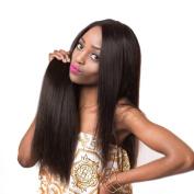 Allrun Brazilian Straight Hair Extensions 1 PCS 25cm - 80cm 100% Unprocessed Human Hair Bundles Natural Colour Can Be Permed 60cm