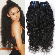 Wet and Wavy Human Hair Weave Bundles Malaysia Virgin Human Hair Bundles Water Wave Weft Water Wavy Human Hair Weave 4 Bundles