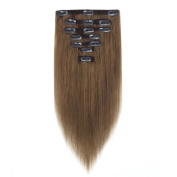 FRTSTLIKE Silky Stright Human Hair Extensions,7 Pieces 15 Clips Human Hair Extensions for Hight Quality.