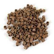 Light Brown 250 pcs 3mm Micro Rings Beads Locks For I Tip Stick Feather Human Hair Extensions