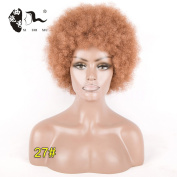 7Inchs Afro Kinky Curly Women Wigs None Lace Heat Resistant Synthetic Hair Wig For Africa American