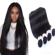 Unprocessed Peruvian Virgin Hair 100g/pc Peruvian Hair Straight 4 Bundle Deals Straight 100% Human Hair Extensions Natural Colour