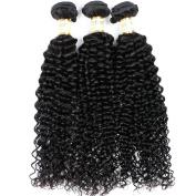 Goldfinch Hair 3 Bundles Brazilian Virgin Hair Kinky Curly Hair Extensions Unprocessed Curly Human Hair Wave Nature Black 60cm 60cm 70cm