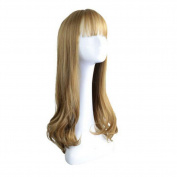 Long Curly Wig Glamorous Women Mixed Colour Wig 70cm -Gold