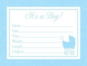 Baby Love Blue Announcement Cards