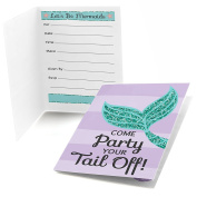Let's Be Mermaids - Fill-In Baby Shower or Birthday Party Invitations