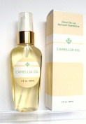 Camellia Oil 100% - Pure Cold Pressed, Organic 2oz / 60 ml. Anti Ageing, Dry Skin, Acne Scars, Stretch Marks, Hair – Unscented
