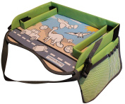 Kids Play Tray - Free Bag - Perfect Activity Tray or Car Seat Tray - Kids Travel Trays are an Ideal Organiser Tray, Lap Desk or Snack Tray - A Road Trip Essential - Green - By Travel in Sanity