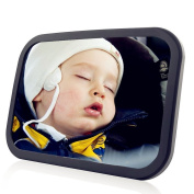 Baby Car Mirror, Baby Back Seat Mirror Rear Facing, Premium Black Acrylic Shatterproof Anti Slide View Infant Baby Observation Convex Mirror for SUV / JEEP
