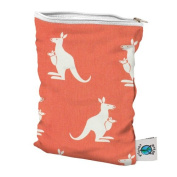 Planet Wise Wet Bag, Coral Kangaroo Twill, Small
