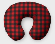AllTot Nursing Pillow Cover in Red and Black Buffalo Plaid