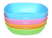 Bakerpan Silicone Toddler Square Feeding bowl, Set of 4