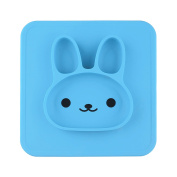 Oye Hoye 100% Food Grade Silicone Feeding Placemat, for Babies, Toddlers and Kids, BPA Free, Dishwasher Safe, Light Blue
