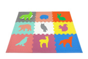 Woodland Animals Play Mat ~ Non Toxic Crawl Mat with Softer, Thicker EVA Foam for Fall Protection, 9 Tiles + 9 Inserts, Patent Pending, 11cm x 8.9cm , With Custom Toy Box, Multicolor by Cake Smash Kids