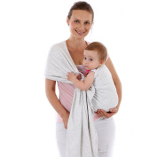 Baby Sling Carrier,Birth to 3 Yr Breastfeeding Nursing Cover Super Soft 100% Organic Cotton Baby Wrap by Liberty Slings Hands Free Ergonomics Baby Carrier
