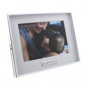 Modern 'Great Grandchildren' Silver Plated 18cm x 13cm Box Photo Frame by Haysom Interiors
